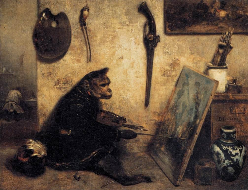 Congo, el chimpancé artista